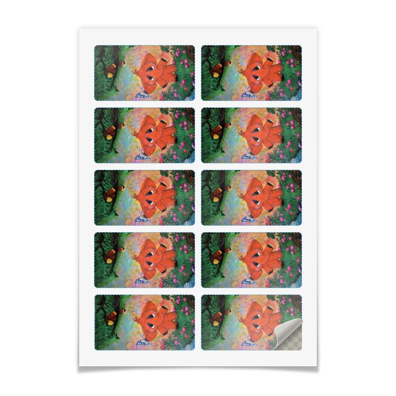Printio Наклейки прямоугольные 9×5 см Слоник