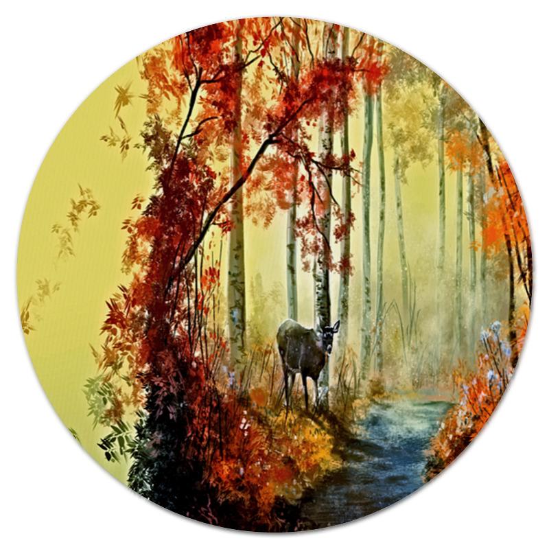 Printio Коврик для мышки (круглый) Осенняя роща