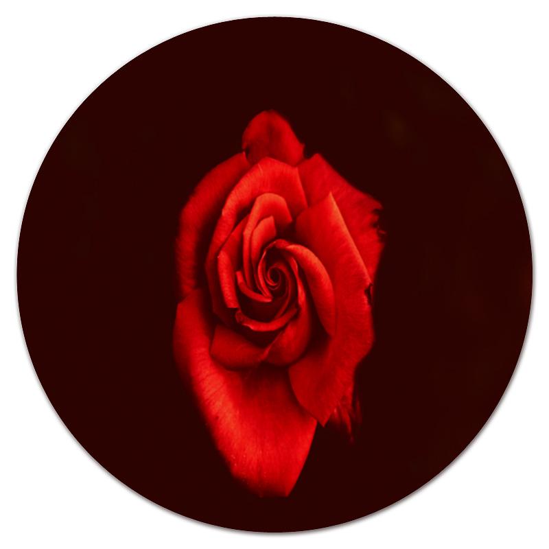 Фото - Printio Коврик для мышки (круглый) Красная роза printio коврик для мышки золотая роза