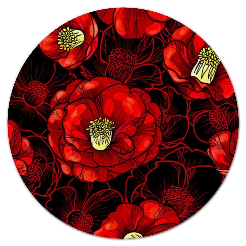 printio коврик для мышки круглый макро цветы Printio Коврик для мышки (круглый) Цветы мака