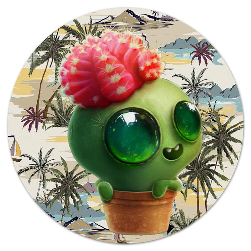 Printio Коврик для мышки (круглый) Funny cactus
