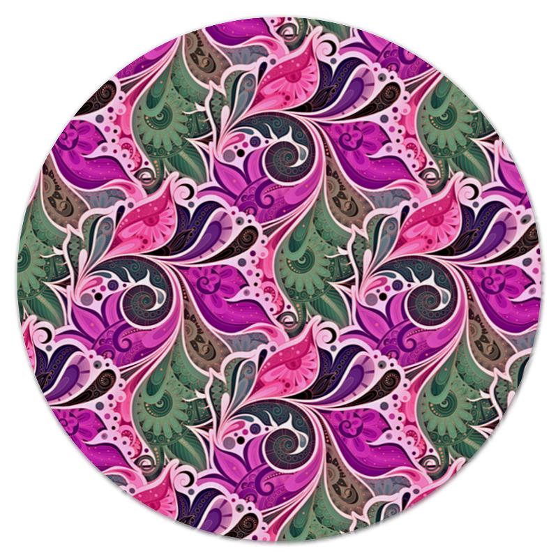 printio коврик для мышки круглый макро цветы Printio Коврик для мышки (круглый) Цветы расписные