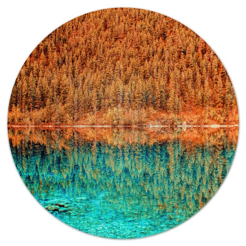 Printio Коврик для мышки (круглый) Лес и вода printio коврик для мышки круглый скалы и лес