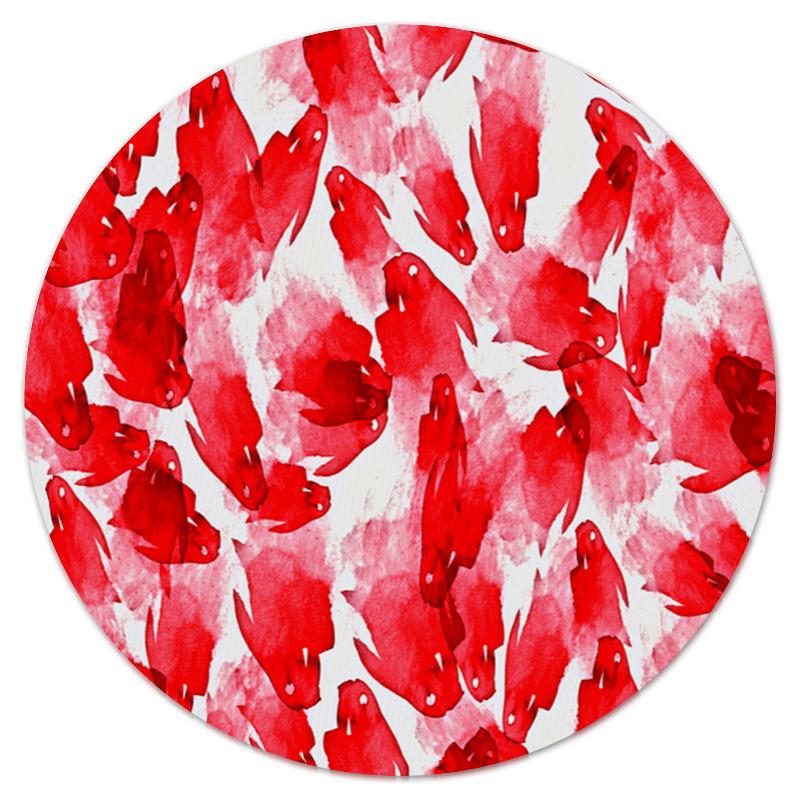 Printio Коврик для мышки (круглый) Красные пятна printio коврик для мышки круглый яркие пятна