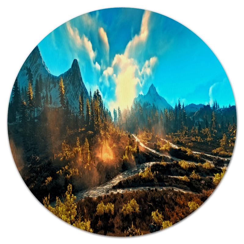 Printio Коврик для мышки (круглый) Лес в горах printio коврик для мышки круглый скалы и лес