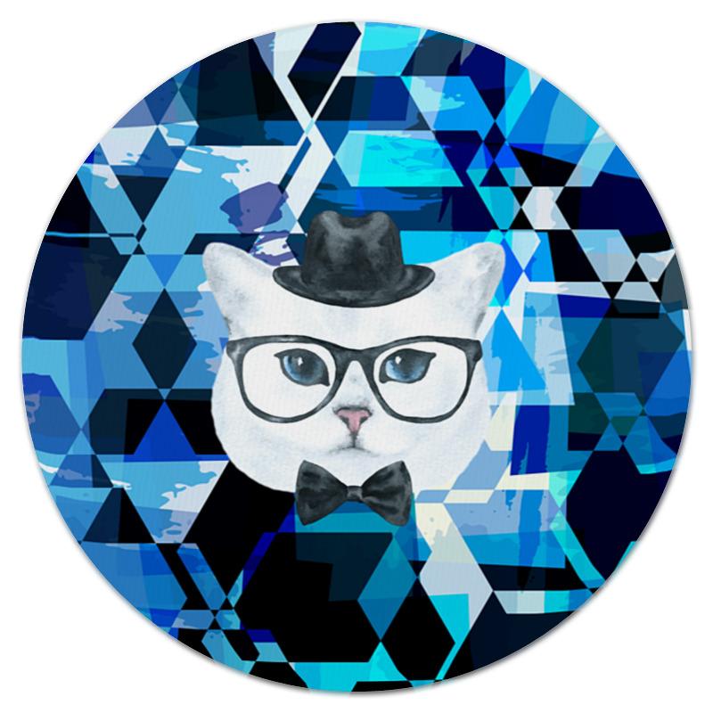 Printio Коврик для мышки (круглый) Кот в очках