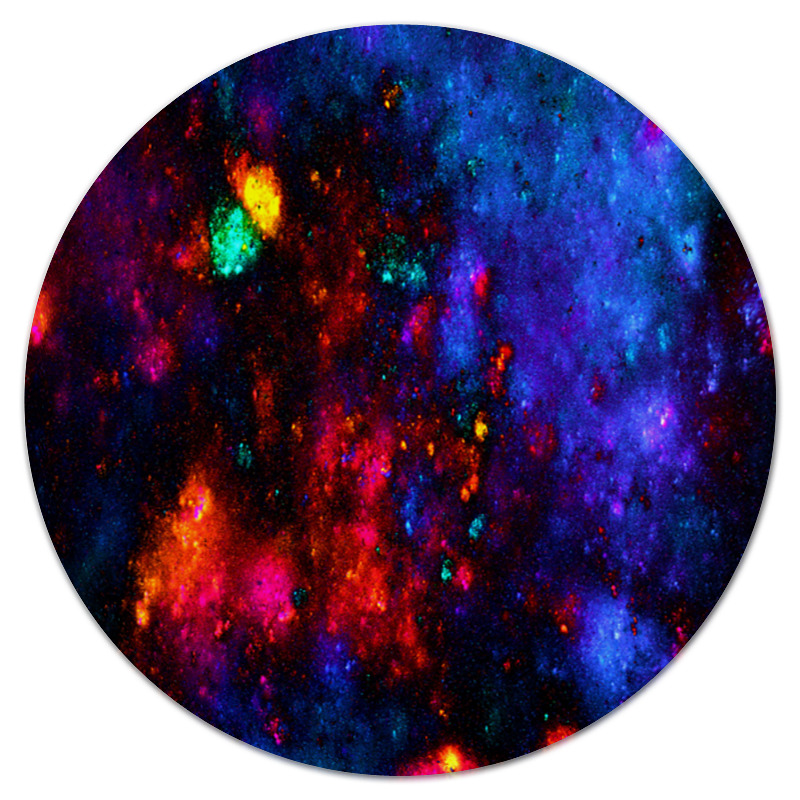 Printio Коврик для мышки (круглый) Яркие пятна printio коврик для мышки круглый яркие пятна