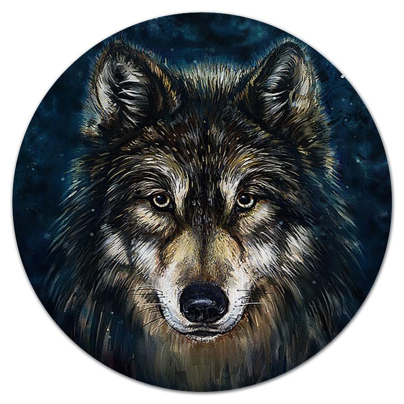 Printio Коврик для мышки (круглый) Волки фэнтези. седой волк printio рюкзак 3d волки фэнтези седой волк