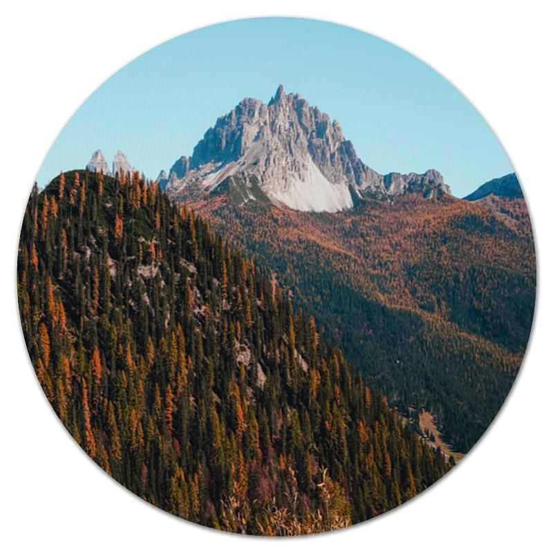 Printio Коврик для мышки (круглый) Скалы и лес printio коврик для мышки круглый скалы и лес
