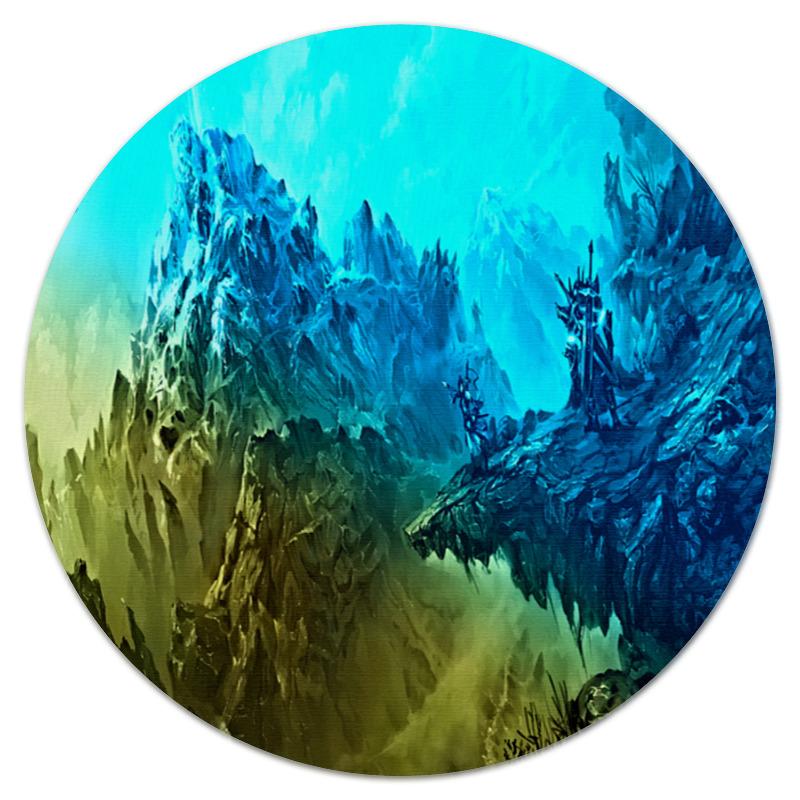 Printio Коврик для мышки (круглый) Ледяные скалы printio коврик для мышки круглый скалы и лес