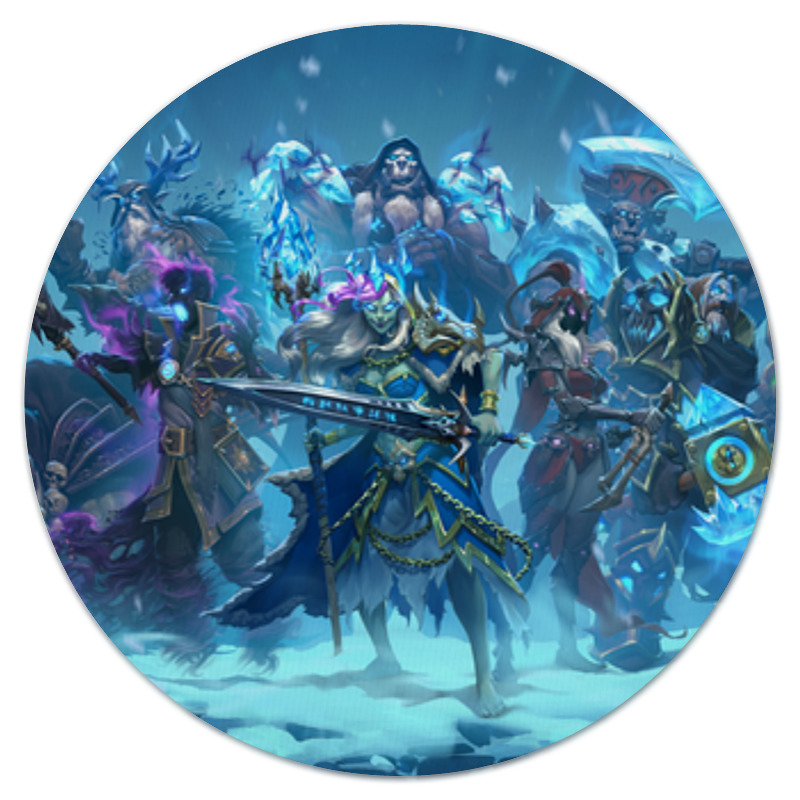 Printio Коврик для мышки (круглый) Knights of the frozen throne