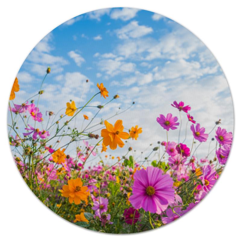 printio коврик для мышки круглый макро цветы Printio Коврик для мышки (круглый) Полевые цветы