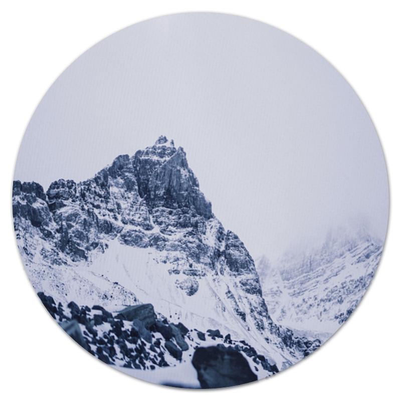 Printio Коврик для мышки (круглый) Снежные скалы printio коврик для мышки круглый скалы и лес