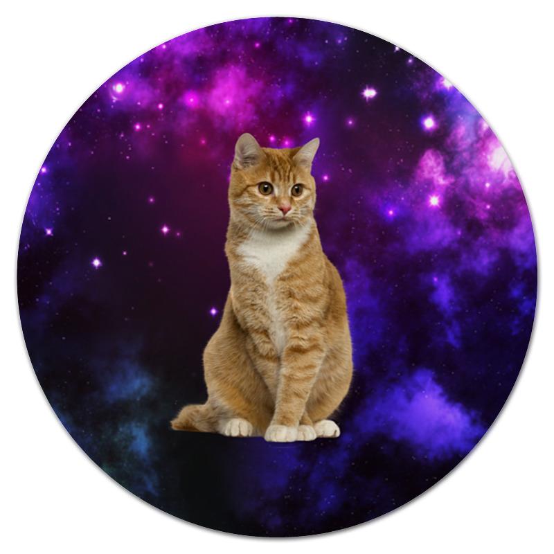 Printio Коврик для мышки (круглый) Кот в космосе