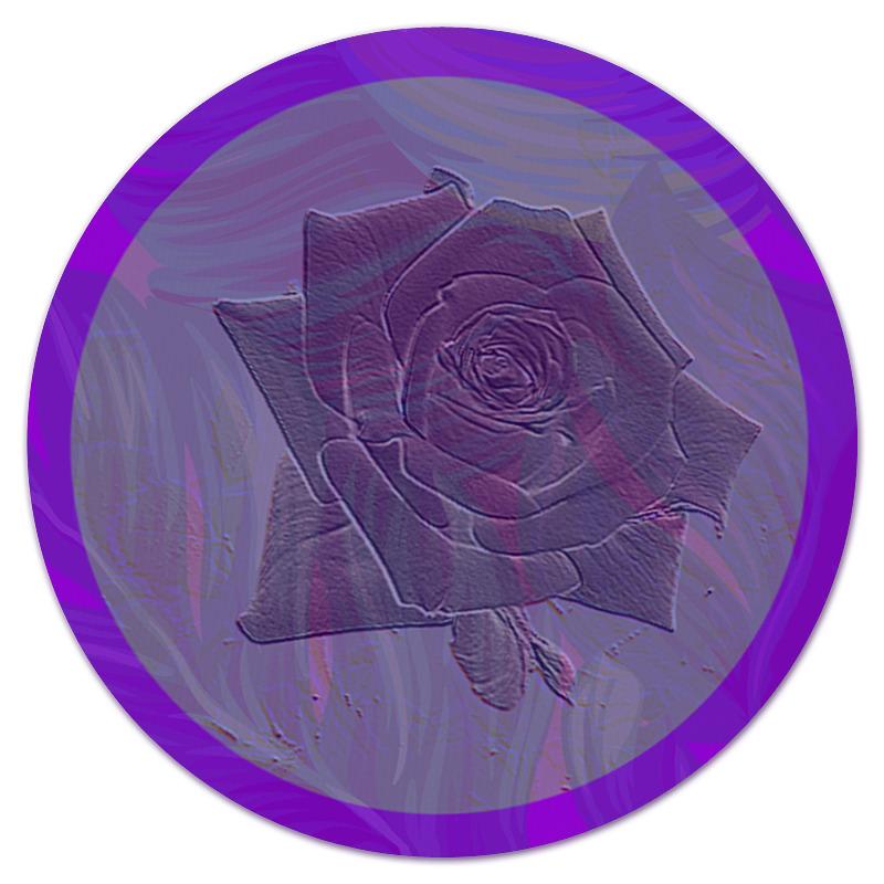 Фото - Printio Коврик для мышки (круглый) Фиолетовая роза. printio коврик для мышки золотая роза