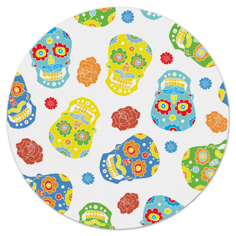 Printio Коврик для мышки (круглый) Расписные черепа printio коврик для мышки круглый черепа