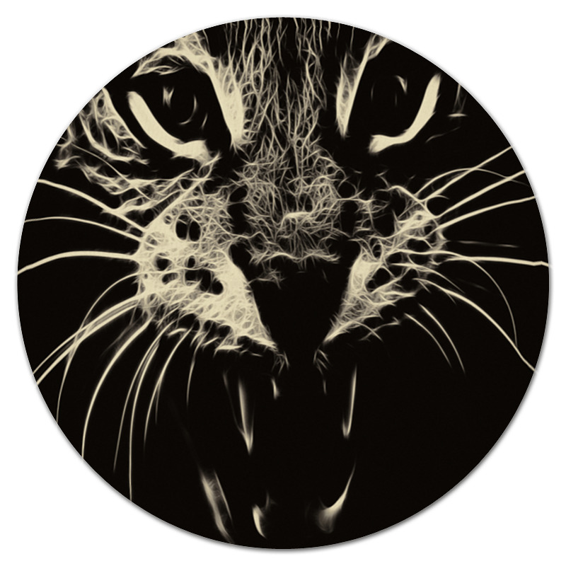 Printio Коврик для мышки (круглый) Лесной зверь