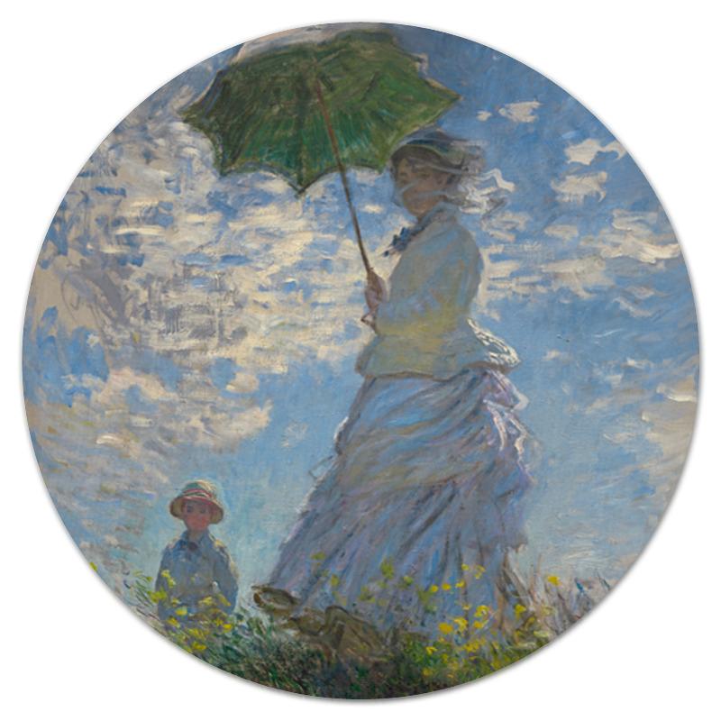 printio коврик для мышки шварц со своим кумиром александром невским Printio Коврик для мышки (круглый) Дама с зонтиком — мадам моне со своим сыном