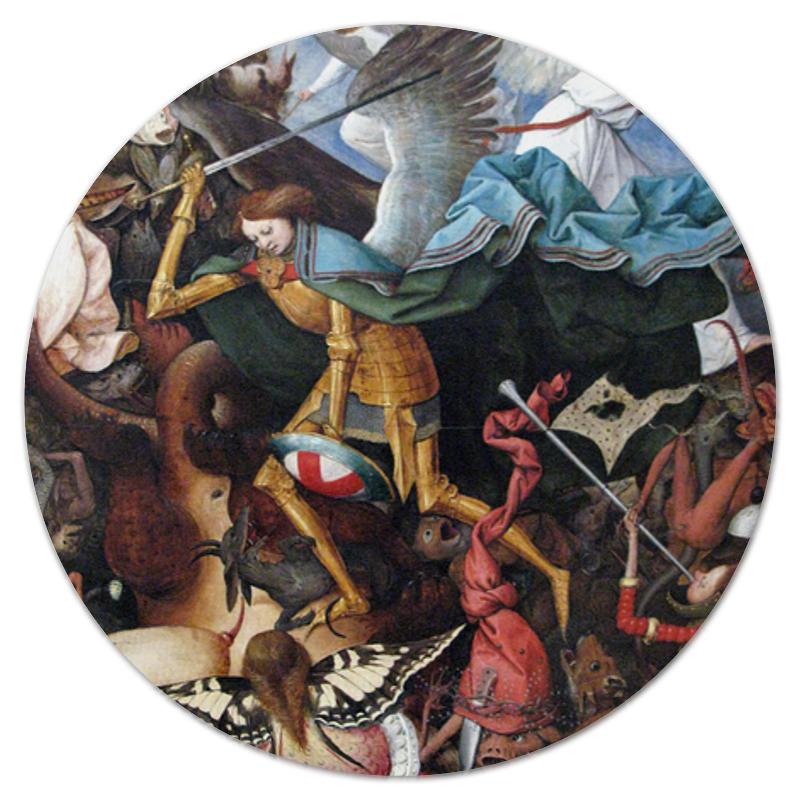 Printio Коврик для мышки (круглый) Падение мятежных ангелов (питер брейгель)
