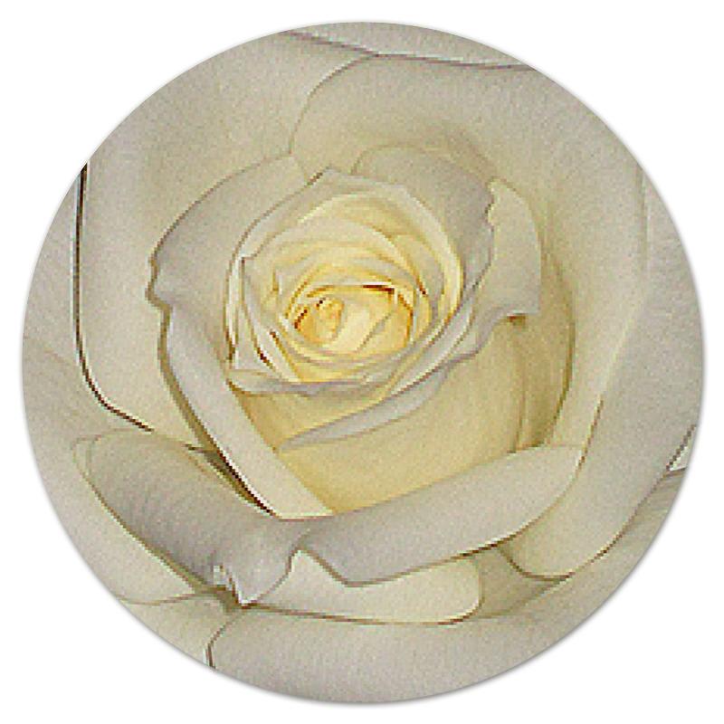 Фото - Printio Коврик для мышки (круглый) Белая роза. printio коврик для мышки золотая роза