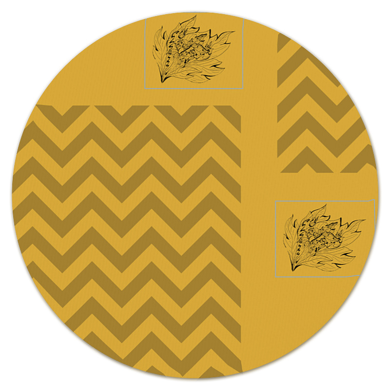 Фото - Printio Коврик для мышки (круглый) Золотая осень printio коврик для мышки золотая роза