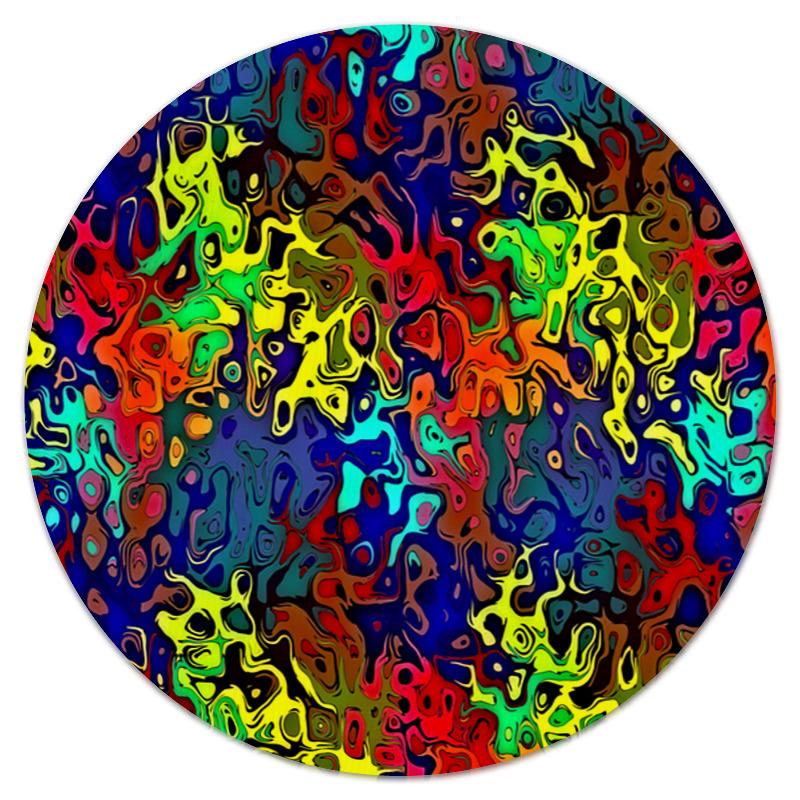Printio Коврик для мышки (круглый) Пятна краски printio коврик для мышки круглый яркие пятна