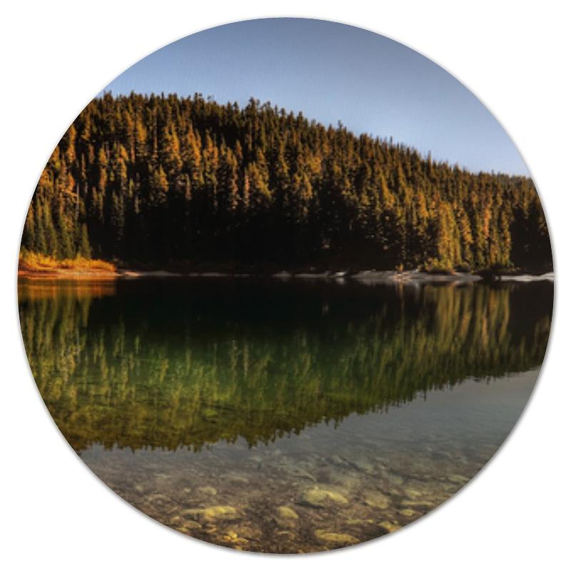 Printio Коврик для мышки (круглый) Озеро и лес printio коврик для мышки круглый скалы и лес