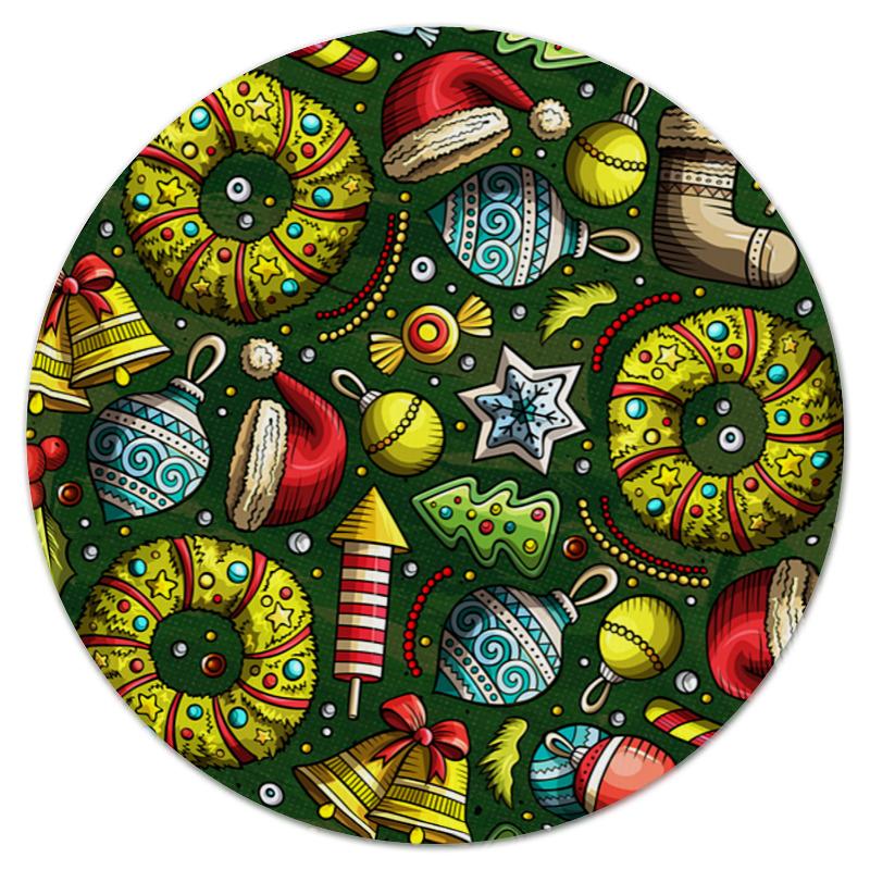Printio Коврик для мышки (круглый) Елочные игрушки