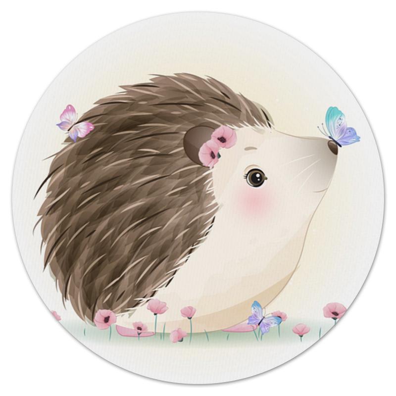 Printio Коврик для мышки (круглый) ежики