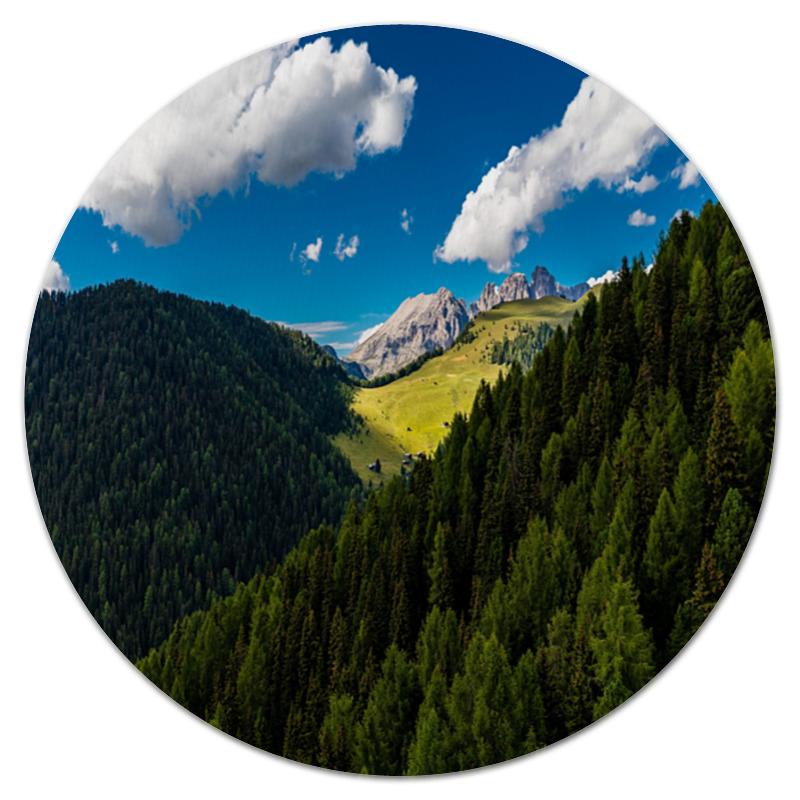 Printio Коврик для мышки (круглый) Лесной склон