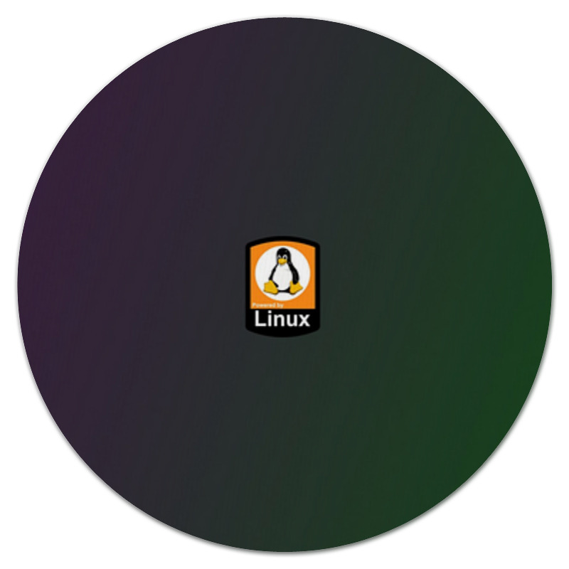 Printio Коврик для мышки (круглый) Linux