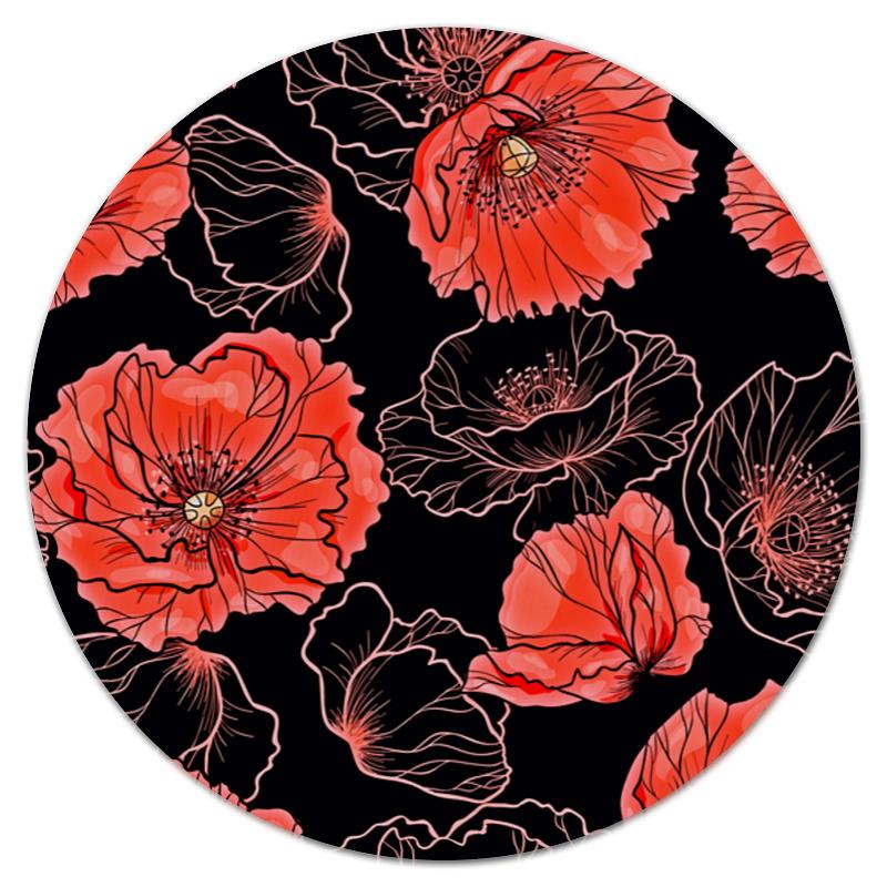 printio коврик для мышки круглый макро цветы Printio Коврик для мышки (круглый) Цветы