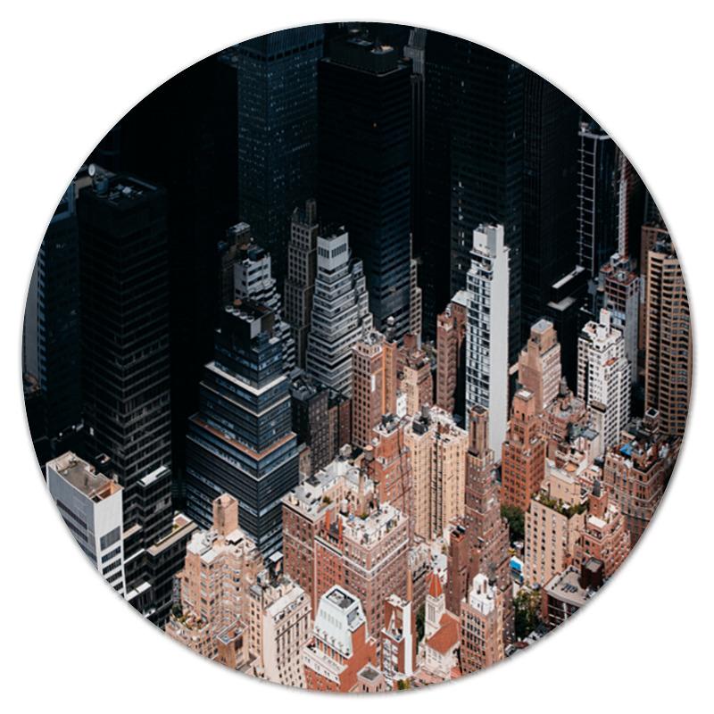 Printio Коврик для мышки (круглый) Этажи
