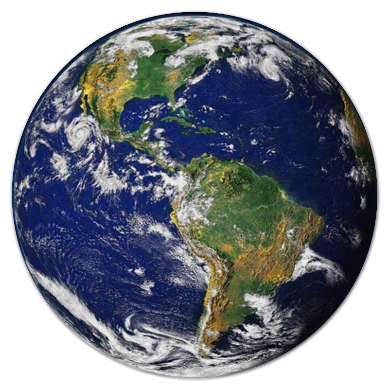 Printio Коврик для мышки (круглый) Планета земля