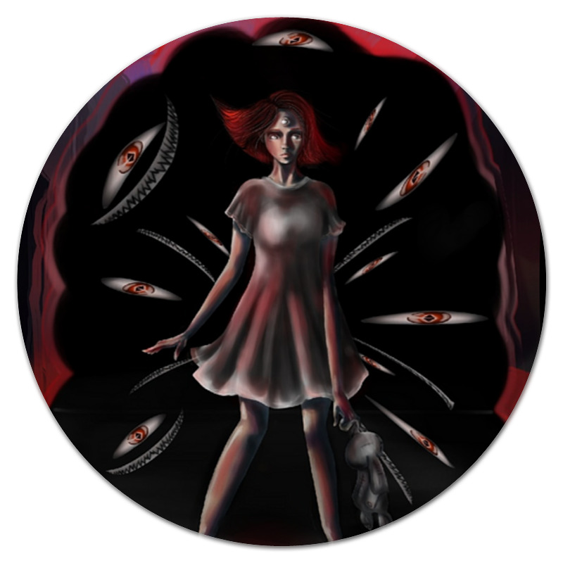 Printio Коврик для мышки (круглый) Черное&красное