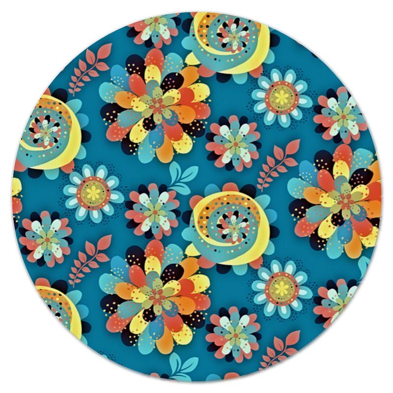 printio коврик для мышки круглый макро цветы Printio Коврик для мышки (круглый) Цветы в красках