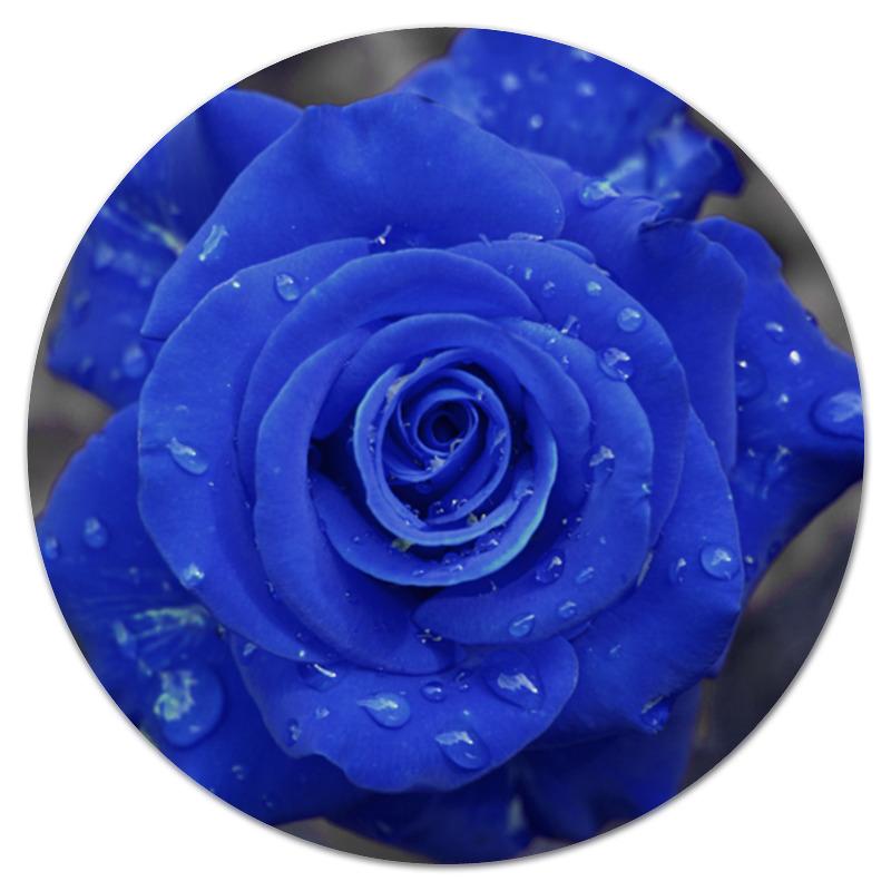 Фото - Printio Коврик для мышки (круглый) Синяя роза printio коврик для мышки золотая роза