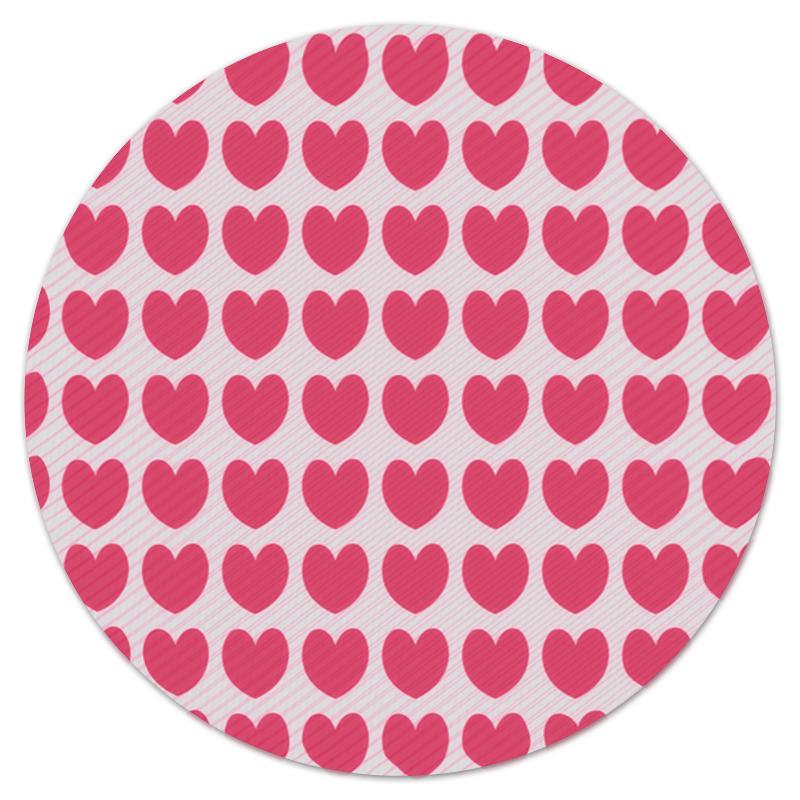 Printio Коврик для мышки (круглый) Розовое сердце printio коврик для мышки круглый сердце