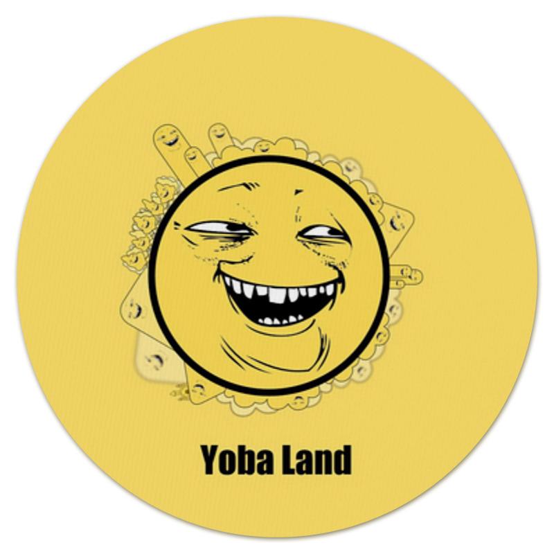 Printio Коврик для мышки (круглый) Yoba-фейс