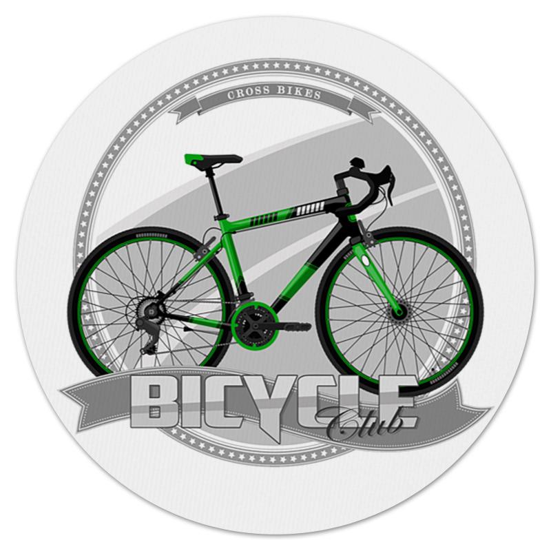 Printio Коврик для мышки (круглый) Участник велосипедного соревнования.