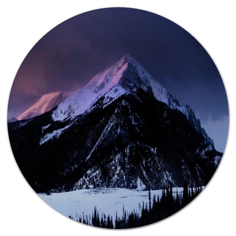Фото - Printio Коврик для мышки (круглый) Снежная гора printio коврик для мышки круглый ледяная гора