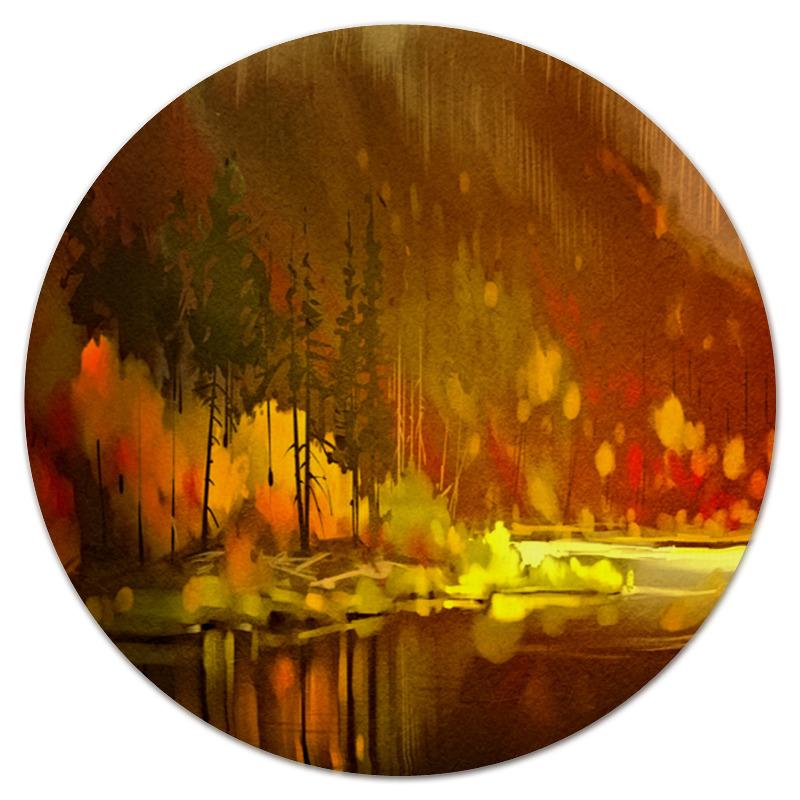 Printio Коврик для мышки (круглый) Осенний лес printio коврик для мышки круглый скалы и лес
