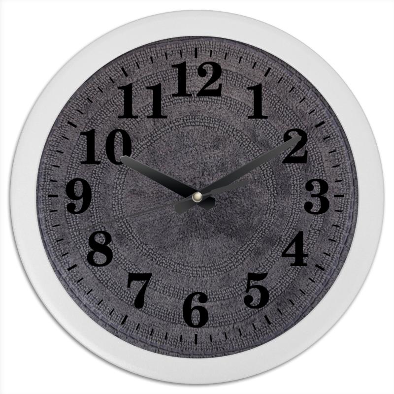 Printio Часы круглые из пластика Бабушка связала