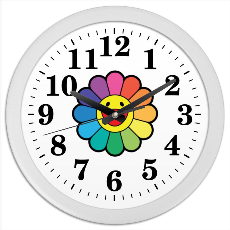Printio Часы круглые из пластика Такаши мураками