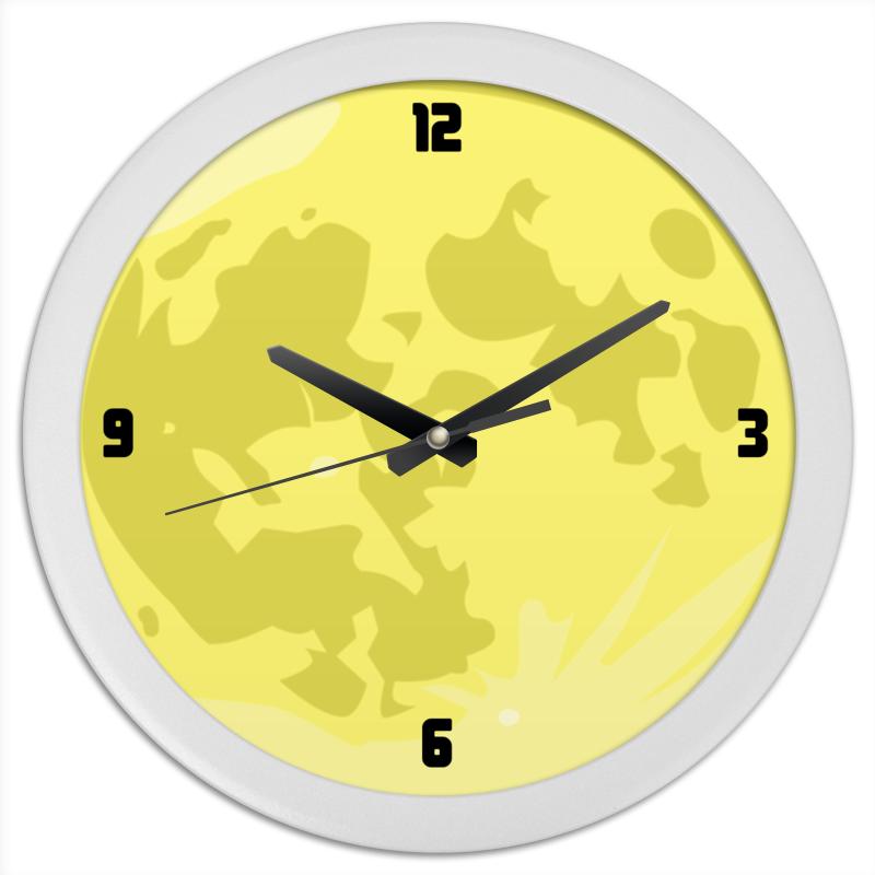 Printio Часы круглые из пластика Желтая луна часы paprcuts watch девочка и луна 0l 00039732