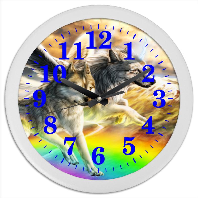 Printio Часы круглые из пластика Хищник