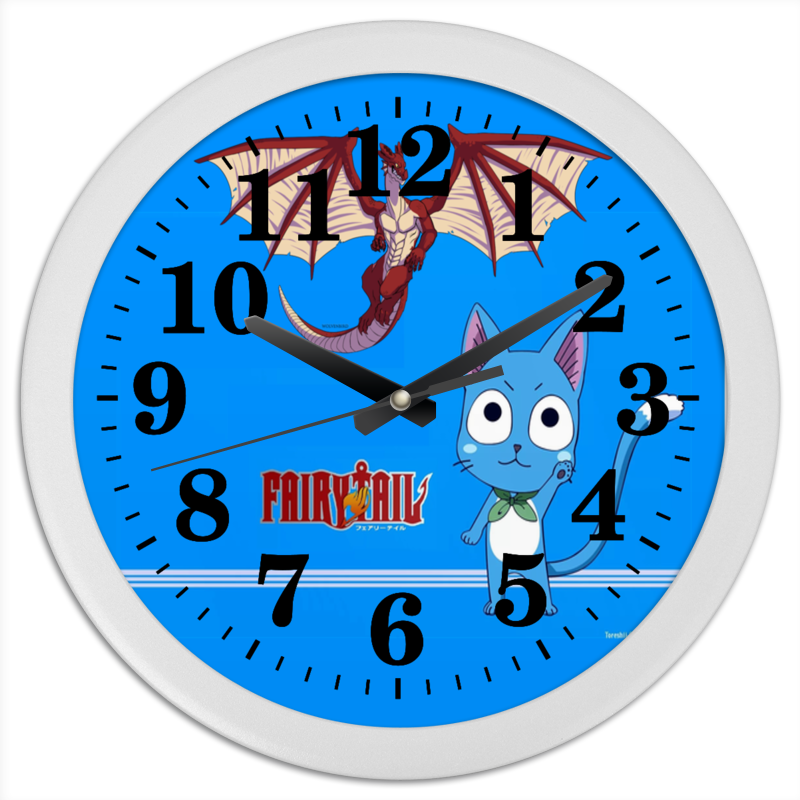 Printio Часы круглые из пластика Fairytail