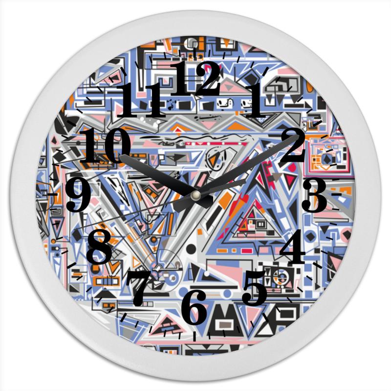 Printio Часы круглые из пластика Ташизм