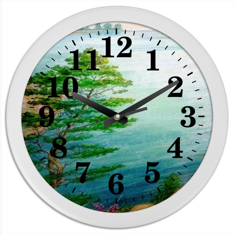 Printio Часы круглые из пластика Песчаный берег