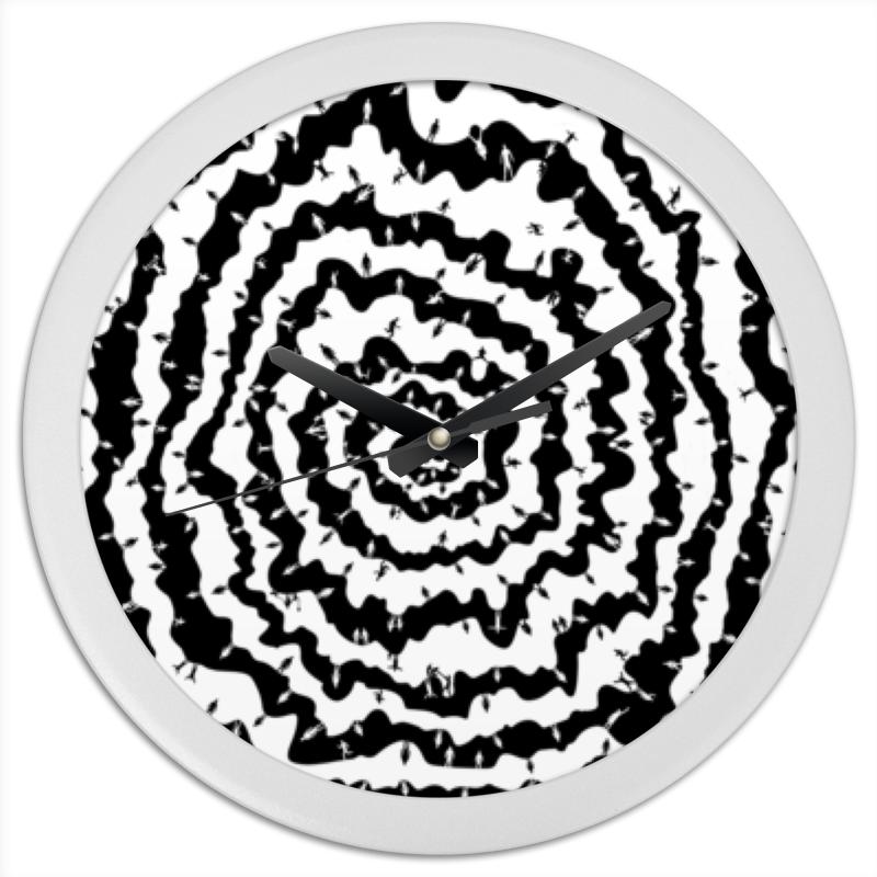 Printio Часы круглые из пластика Спираль юджина